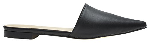 Image of AnnaKastle Womens Chic Pointy Toe Dress Mule Flat Slide