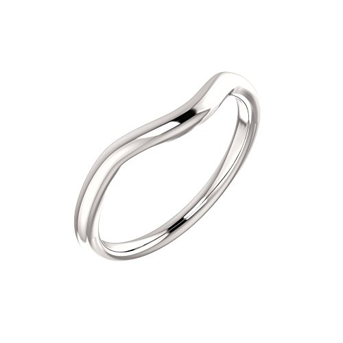 STU001- Platinum Band for 7x5mm Oval Ring
