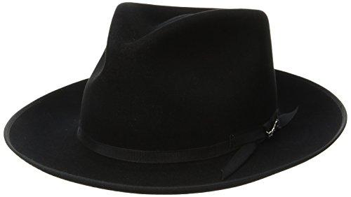 Stetson Men's Stratoliner Roayl Quality Fur Felt Hat, Black, 7.625 (Stetson Rodeo)