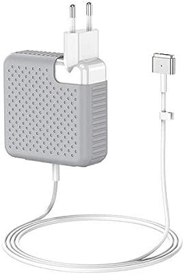 BETIONE Cargador Mac Pro/Air, Cargador Mac Book, 85W MagSafe 2 Forma de T Adaptador de Corriente Funciona con los Mac Pro 45W/60W/85W-13 15