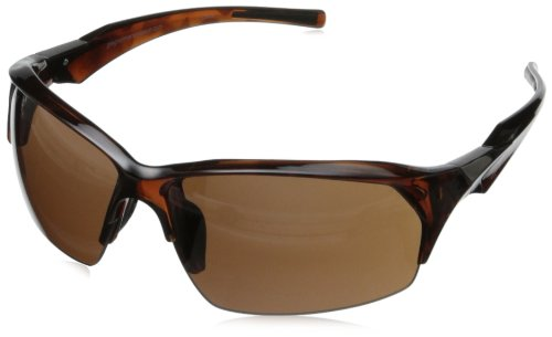 Greg Norman G4402 Sport Semi Rimless Extreme Lens Sunglasses,Crystal Brown Tortoise, 68 ()