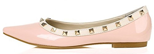 Comfy Slip Women's Toe Loafer Shoes On Pink Pointy Aisun Flat BqRWw4v7