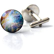 Space Cufflinks with Orion Light Nebula
