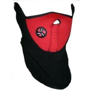 SKL Neoprene Red Thermal Fleece Face Mask Ski Ice Fishing Cross ... 7fc7670c7