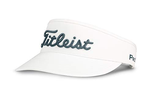 - Titleist Men's Tour Golf Visor, White/Charcoal