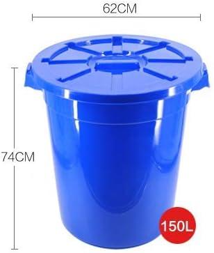 DSDD Cubos de Basura para Exteriores 120l / 150l Cubo de plástico de Barril Industrial Grande con