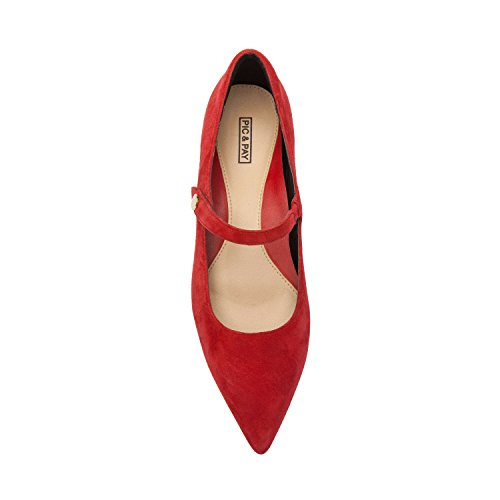 Support Ballet Pointy Mary Jane Fall Comfortable Toe New LUCI Padded Red Arch Insole Suede Suede Flat w1xqTPnP