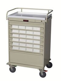 - 1113650 Cart Medication Med-Bin 5Bins Key-Locking Ea Harloff Manufacturing -VL24BIN5