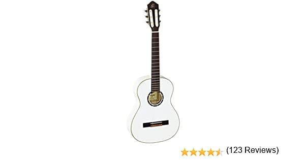 Ortega R121-3/4WH - Guitarra clásica, abeto y caoba, tamaño 3/4 ...