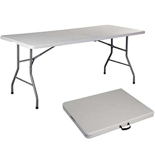 TimmyHouse Folding Table 6' Portable Plastic Indoor Outdoor Picnic Party Camp Tables (Furniture Outdoor Bunnings Australia)