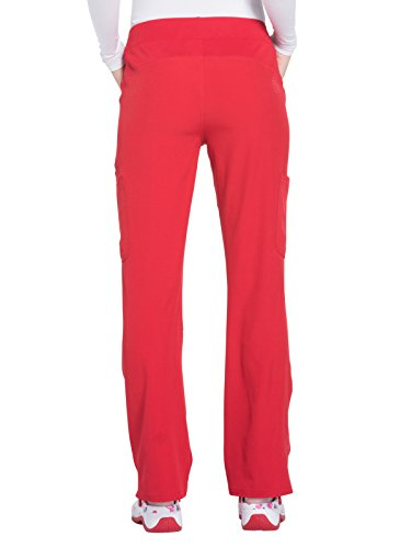 HeartSoul Women's HS020'' Drawn To Love Low Rise Pull-On Cargo Pant- Red- Large by HeartSoul Scrubs (Image #2)