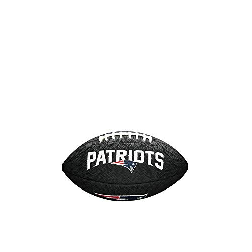 NFL Team Logo Mini Football, Black - New England Patriots