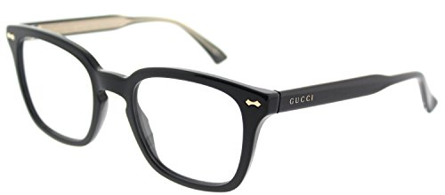 Gucci GG 0184O 001 Black Plastic Square Eyeglasses -