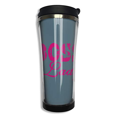 Huinn Thermos Cups Coffee Mug Boss Lady for Home Office School Works Great for Hot and Cold Drink Free Flip Cap Double Wall (Woman Wonder Koozie Bottle)