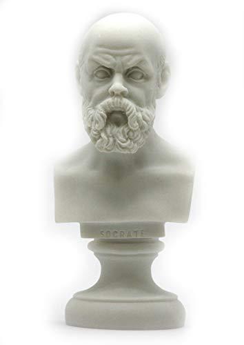 Greek Philosopher SOCRATES Alabaster Bust Head Statue Sculpture Décor 5.9΄΄ (Sculpture Head Bust)