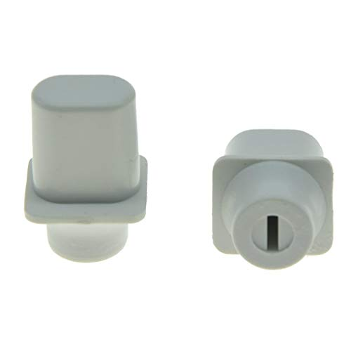 KAISH Pack of 2 White Vintage Top Hat Switch Tip 3 Way or 4 Way Pickup Selector Switch Knobs for U.S. Tele/Telecaster