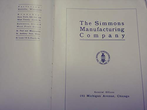 The Simmons Manufacturing company, 1905 Catalog Book Antique Beds (Canopy Cribs)