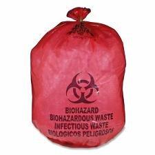 Biohazard Waste Bag,20-25 Gallon,31''x41'',50/BX,Red MHMMDRB142755