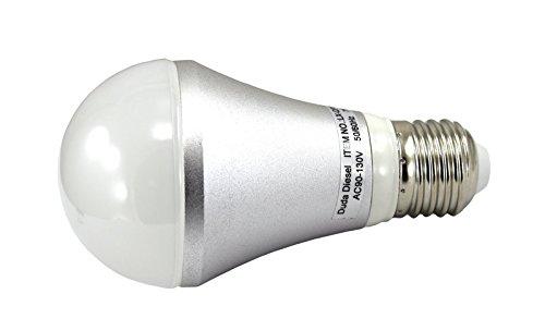 QP013-7w Dimmable LED Light Bulb 6.3 Watt 490 Lumens 120° 50w Equivalent 100-130v AC 50/60 Hz E-26 30000+ Hour Aluminum 2 Year Warranty by Duda LED