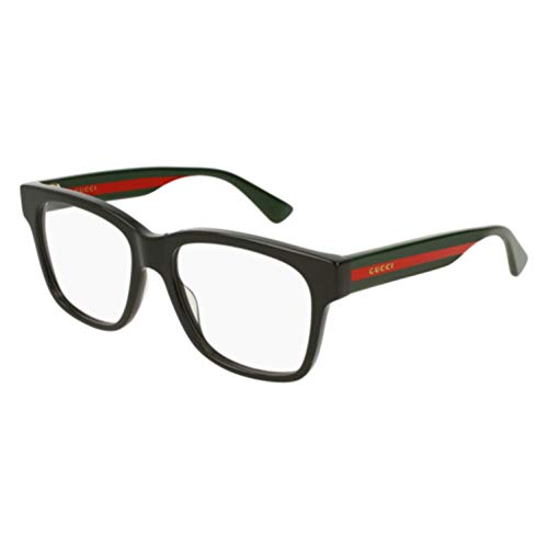 Gucci GG0342O Eyeglasses 004 Black/Multicolor 56 mm