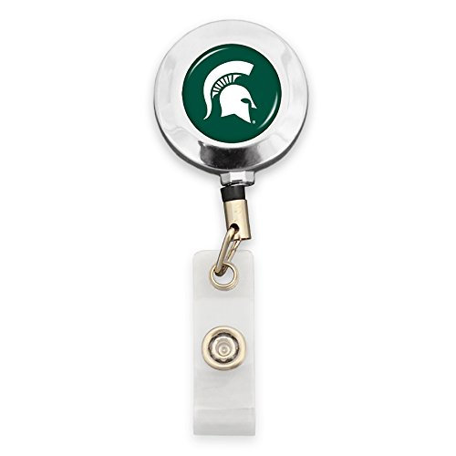 FTH Michigan State Spartans Badge Reel with Alligator (State University Clip)
