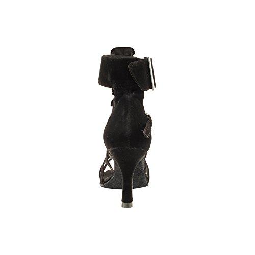 """50 Shades Of Black Tanzschuhe Sammlung I, Komfort Abendkleid Hochzeit Pumps: Frauen Ballroom Dance Schuhe für Latin, Tango, Salsa, Swing, Theater Kunst von Party-Party (2,5 """"& 3"""" Heels) 7026 - Schwarzer Samt"""
