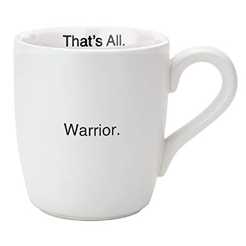 Warrior That's All Breast Cancer Awareness 16 Ounce Ceramic Coffee Mug