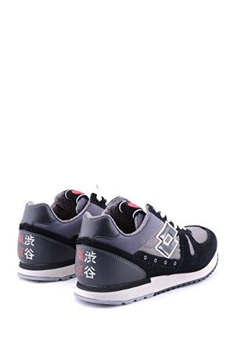 Lotto Leggenda, Uomo, Tokyo Navy Dark Black, Suede / Mesh, Sneakers, Nero Nero/Grigio