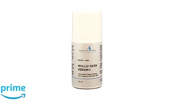 Plata-MSM Suero de la piel de Mollu + Aplicador de rodillo - con Myrtle del limón aceite esencial 60 ml: Amazon.es: Salud y cuidado personal