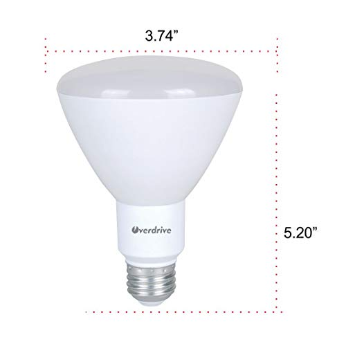 Overdrive 598, (6-Pack), 65 -Watts Equivalent Incandescent, BR30 LED Light Bulb, Soft White, Dimmable, Energy Star Qualified - - Amazon.com