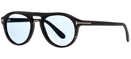 5438-P Dark Brown Horn/Light Blue 51/0/0 Unisex Eyewear Frame (Light Brown Horn)