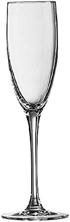 Luminarc Copa de Flauta para vinos espumosos, Acero Inoxidable, 6 Copas, 17 cl