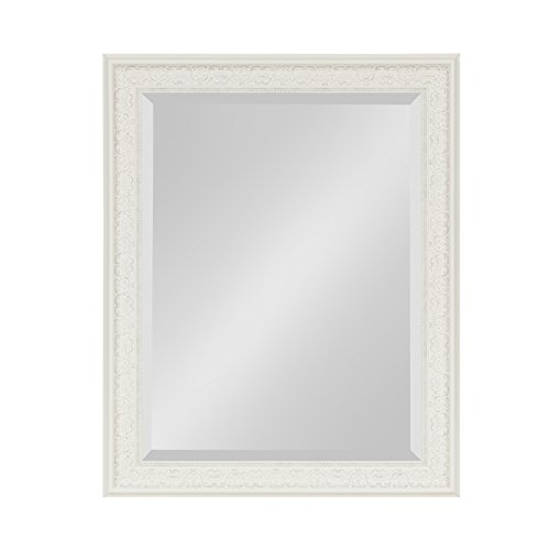 Kate and Laurel Alysia Framed Wall Mirror 22.5×28.5 White