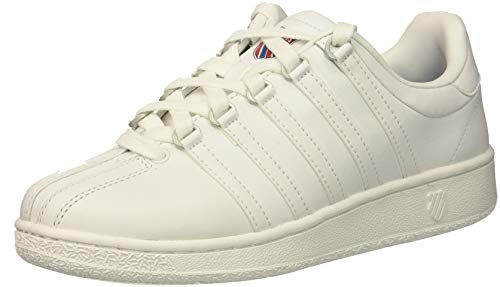 K-Swiss Women's VN Heritage Sneaker, white/classic blue/ribbon red, 8.5 M US