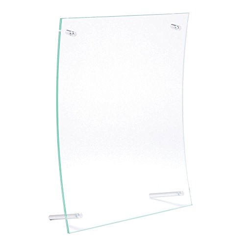 Curved Holder Metal Sign (Sign Holders With Metal Pegs Clear Plastic Curved- 8 1/2 L x 11
