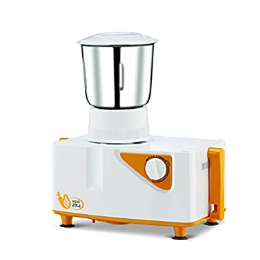 Bajaj Neo JX4 450-Watt Juicer Mixer Grinder with 2 Jars (White/Orange) 9