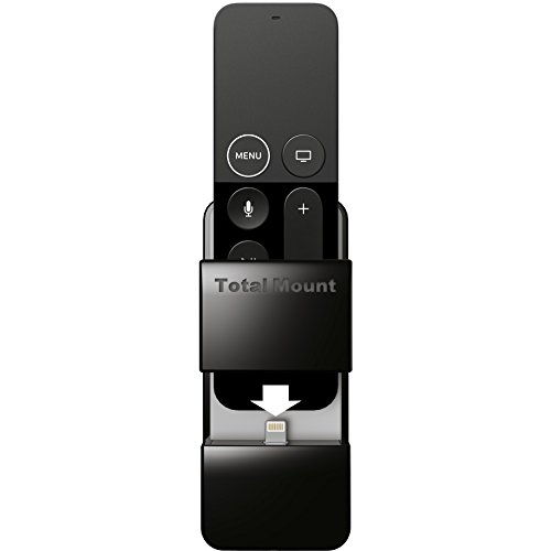 TotalMount Apple TV Remote Holder (Safeguards and Charges Apple TV Remote Controls) (Remote Tv Apple Holder)