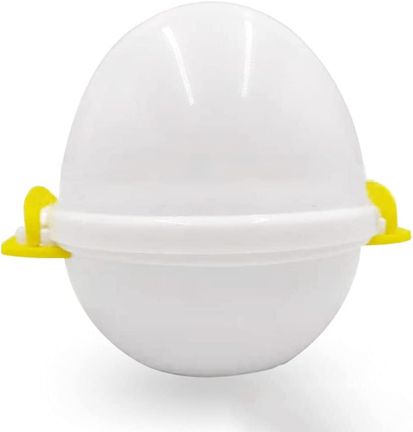 GEXIN Microwave Egg Cooker, Electric Large Hard Boiled Egg Cooker Poached Eggs,4 Capacity Perfectly Cooks Eggs and Detaches with the Shell Premium