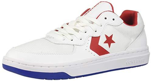 Converse Men's Unisex Rival Low Top Sneaker, White/Enamel Red/Blue 6 M US ()