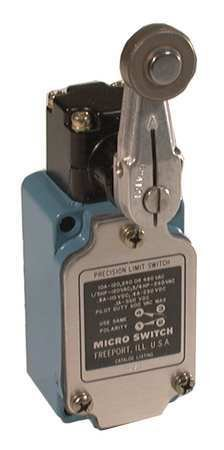 Rotary, Roller Lever General Purpose Limit Switch; Location: Side, Contact Form: 1NC/1NO, Rotary Mov - 1 Each