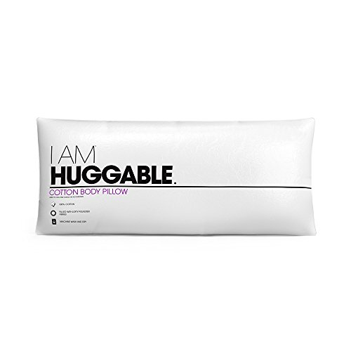 """Huggable Body (eLuxury I AM Huggable Full Body Cotton Pillow - Snuggle Up Softness and Extra Back Support - Measures 54""""x20"""" & 7"""" Thick)"""