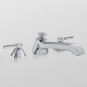 Toto TB970DD1#RB Guinevere Deck-Mount Tub Filler Trim with Lever Handles, Oil Rubbed - Faucet Tub Guinevere