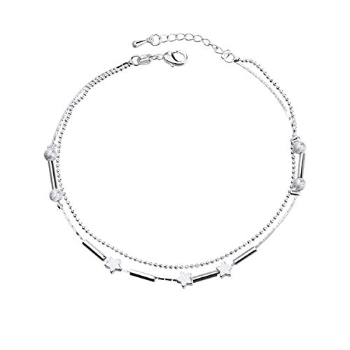 - Bestjybt Little Star Silver Plated Chain Ankle Bracelet Barefoot Sandal Beach Foot Jewelry