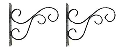 Indian Artisans Metal Wall Bracket for Planters & Birds Feeder etc,Set of 2.