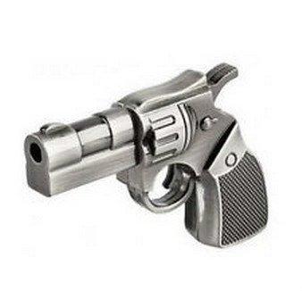 Sandios 8GB Metal Gun Model USB 2.0 Memory Stick Flash Pen Drive Gift
