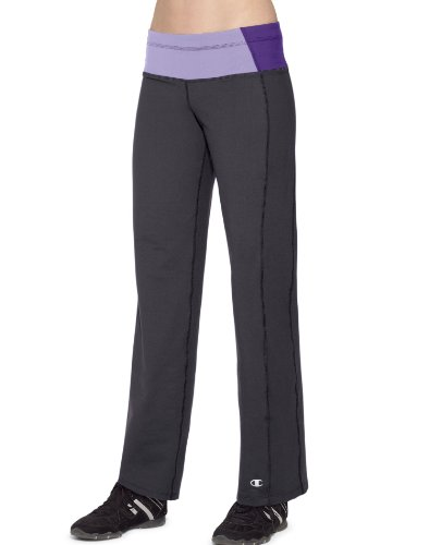 Champion PowerTrain Absolute Workout Women's Pants: Black/Purple Mist/Electric Purple, S