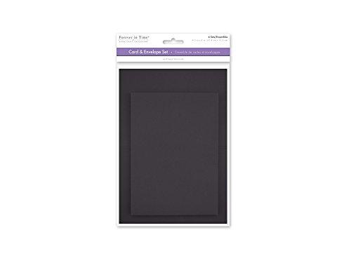 [해외]Forever in Time CM600E A6 Cards & Envelopes 6 Sets 4.5in x 6in Black / Forever in Time CM600E A6 Cards & Envelopes, 6 Sets, 4.5in x 6in, Black