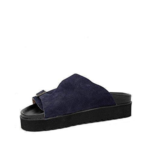 PLAKTON Women's Clogs & Mules Blue 91r8vdSgZw