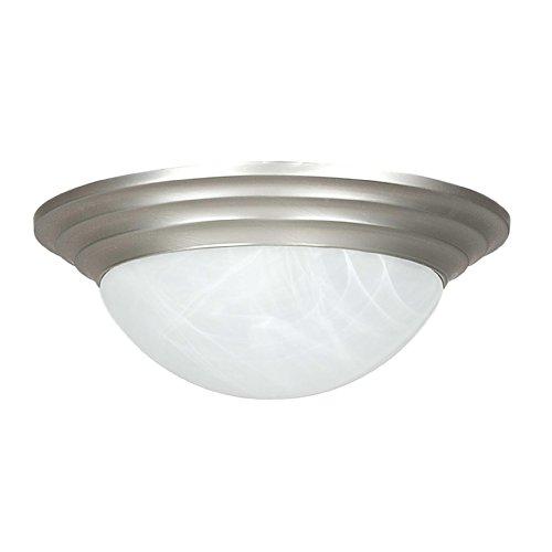Nickel Satin Twist (Sunset Lighting F7166-53 Flush Mount with Twist on Faux Alabaster Glass, Satin Nickel Finish)