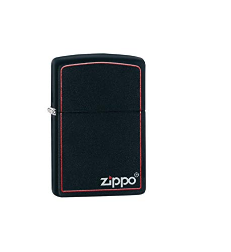 Zippo Classic Black and Red - Brass Finish 4 English